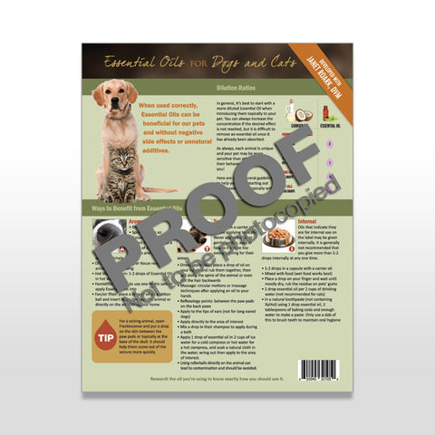 Essential Oils for Dogs and Cats Tear Sheet