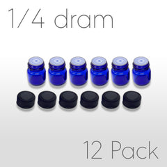 ¼ Dram Sample Bottles - Blue