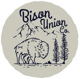 The 1950s Bison Union Mountain Sticker