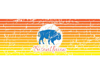 The Bison Vintage Sunrise Sticker