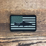 Bison Union Fish Freedom Patch - in tactical subdued or full color RWB