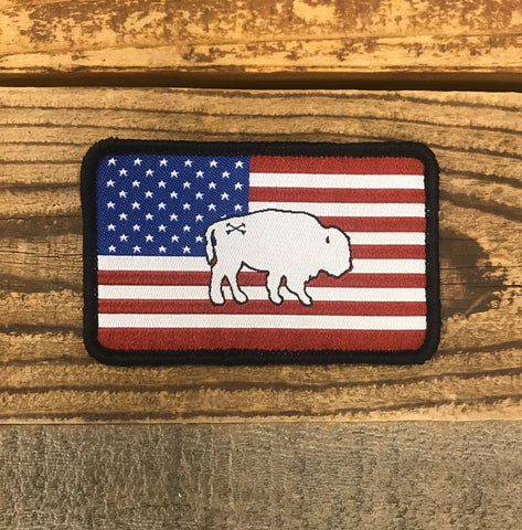 Bison Union WHITE Buffalo Freedom Patch