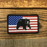 Bison Union Bear Freedom Patch - in tactical subdued or full color RWB