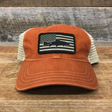 "Bison Union ""Fish Flag"" Relaxed Fit Unstructured Hats"