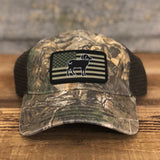 "Bison Union ""Realtree Camo"" Flag Hats"