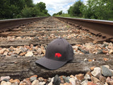 The Bison Union Solid FLEX FIT Hat w/Small Buffalo Front, Classic Logo Side/Back