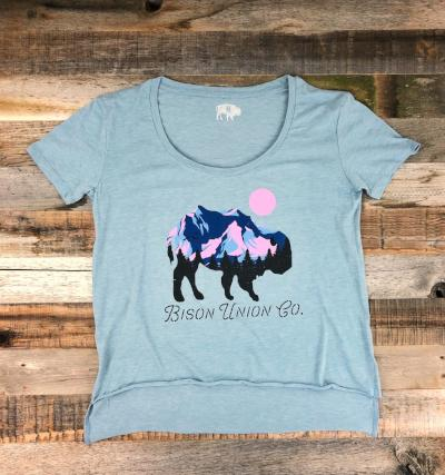 Alpenglow Buffalo Ladie's Tee