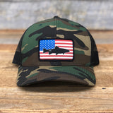 "Bison Union ""Fish Flag"" Trucker Snapback Hats"