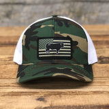 "Bison Union ""Bull Flag"" Trucker Snapback Hats"