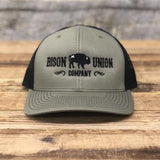 """Bison Union Co"" Embroidered Structured Snapback Hat"