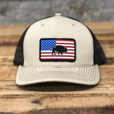 "Bison Union ""Buffalo Flag"" Trucker Snapback Hats"