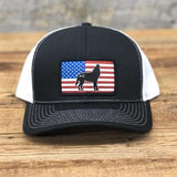 "Bison Union ""The Wolf"" Flag Trucker Snapback Hats"