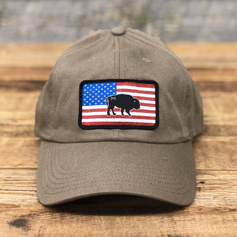 Classic Buffalo Flag Unstructured Hat