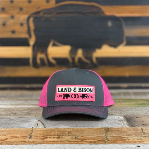 Land and Bison Low Profile Gray/Pink Mesh/Pink Patch
