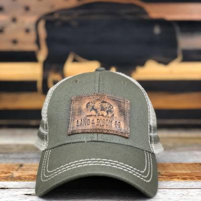 28f4c962a51 Land   Bison Leather Patch Snapback – Bison Union