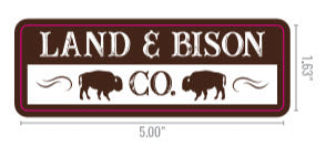 Land & Bison Proud Supporter Stickers