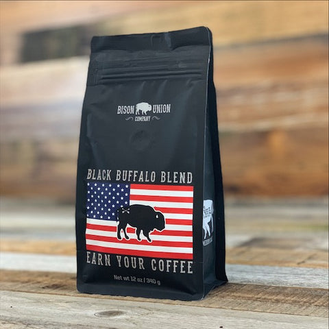 """Black Buffalo"" Coffee Blend 12 oz bag Autoship"