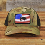 "Bison Union ""Multicam®"" Flag SnapBack Hat"