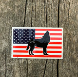 Bison Union American Flag Stickers - Small