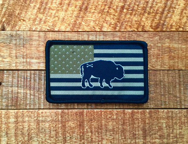 Peacemaker Buffalo Freedom Patch - in tactical subdued or full color RWB