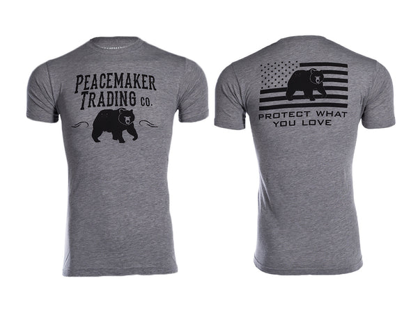 """The Peacemaker Bear"" Tee - Black Font"