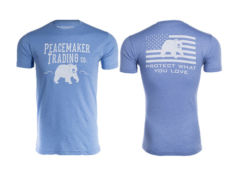 """The Peacemaker Bear"" Tee - White Font"