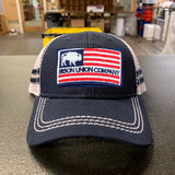 Bison Union American Logo Flag Patch Low Profile Hat