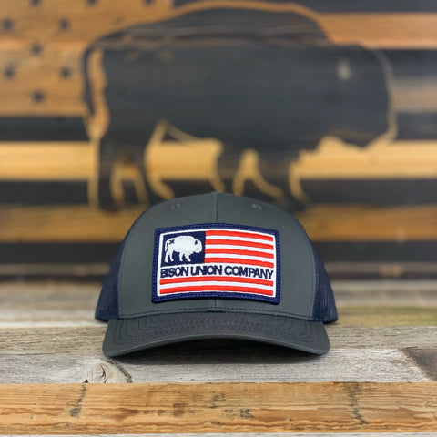 Bison Union's American Logo Flag Patch Hat