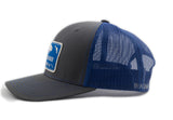 The White Buffalo Snapback - Charcoal/Blue