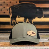 """Buffalo Fly"" Leather Patch Hat"
