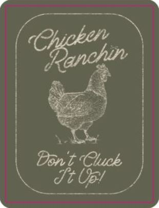 "Bison Union ""Don't Cluck It Up"" Sticker"
