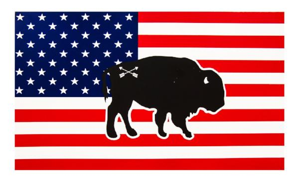 Peacemaker Trading Co. Buffalo/Bear/Moose Flag Stickers - LARGE