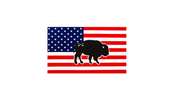 Peacemaker Trading Co. Buffalo/Bear/Moose Flag Stickers - Small