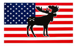 Bison Union Buffalo/Bear/Moose Flag Stickers - LARGE