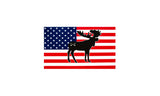Bison Union Buffalo/Bear/Moose Flag Stickers - Small