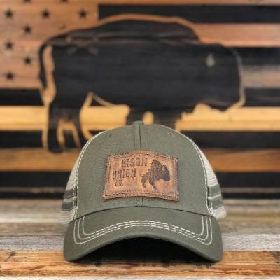 """Thunder Buffalo"" Leather Patch Snapback"