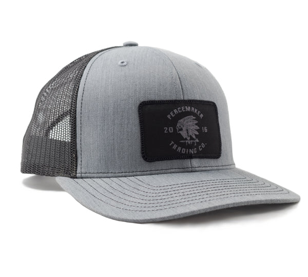 Peacemaker Headdress Snapback - Grey/Black Black Patch