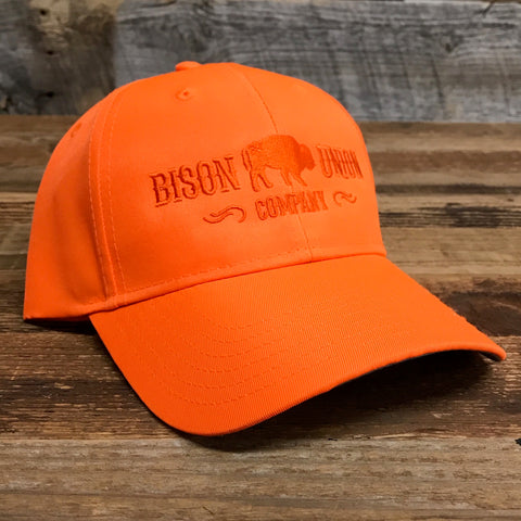 Blaze Orange Bison Union Hunter Hat