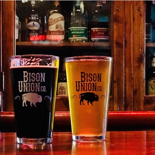 Bison Union Pint Glasses