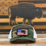 "Bison Union ""Bass Flag"" Structured Snapback Hat"