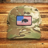 "Bison Union ""Multicam®"" Flag FlexFit Hats"