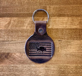 Handmade Buffalo Leather Keychains