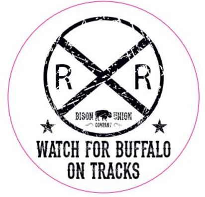 "Bison Union ""Buffalo Tracks"" Sticker"