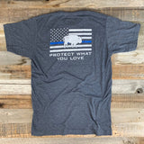 "RESPECT ""The Blue Line"" Bison Union Tee"
