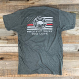 "RESPECT ""The Red Line"" Bison Union Tee"