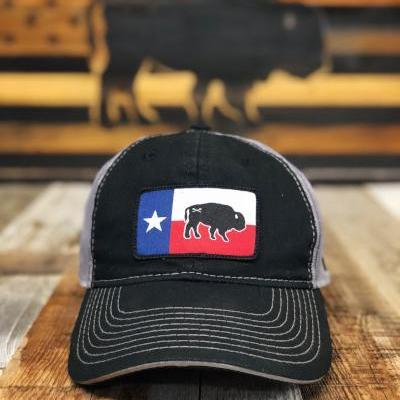 Bison Union's Texas Buffalo Flag Unstructured Snapback