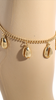 Puka Shell Charm Anklet in Gold