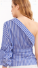 Mia Striped One Shoulder Shirt