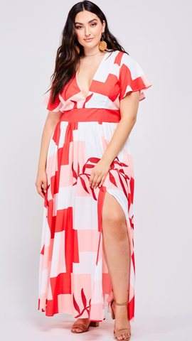 Amy Plus Size Maxi Dress
