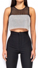 Reba Rhinestone Jewel Crop Top